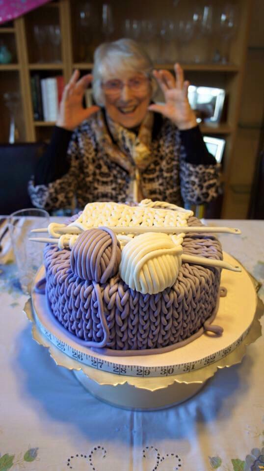 Knitting A Cake For Granny Frances Auty Bakes