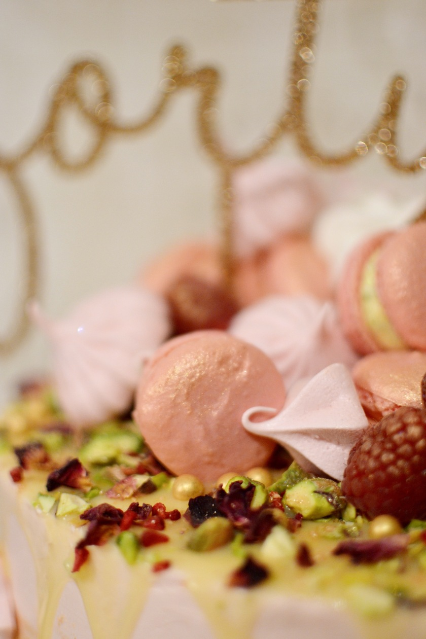 I dusted the macarons with edible gold lustre